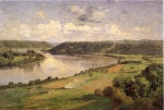 Theodore Clement Steele  - paintings - The Ohio River from the College Campus Honover