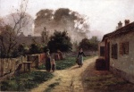 Theodore Clement Steele  - paintings - Village Scene
