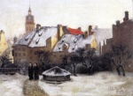 Theodore Clement Steele  - paintings - Winter Afternoon Old Munich