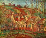 Camille  Pissarro - paintings - The Red Roofs
