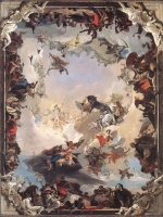 Giovanni Battista Tiepolo - paintings - Allegory of the Planets and Continents