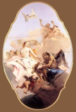 Giovanni Battista Tiepolo - Bilder Gemälde - An Allegory with Venus and Time