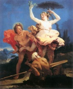Giovanni Battista Tiepolo - paintings - Apollo and Daphne