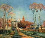 Camille  Pissarro - paintings - Entrance to the Village of Visins