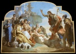 Giovanni Battista Tiepolo - paintings - John the Baptist Preaching