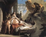 Giovanni Battista Tiepolo - paintings - Jupiter and Danae