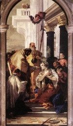 Giovanni Battista Tiepolo - paintings - Last Communion of St. Lucy