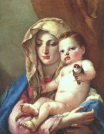 Giovanni Battista Tiepolo - paintings - Madonna of the Goldfinch