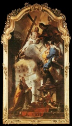 Giovanni Battista Tiepolo - paintings - Pope St. Clement Adoring the Trinity