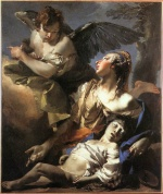 Giovanni Battista Tiepolo - paintings - The Angel Succouring Hagar