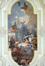 Giovanni Battista Tiepolo - paintings - The Institution of the Rosary