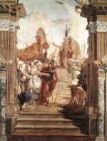 Giovanni Battista Tiepolo - paintings - The Meeting of Anthony and Cleopatra