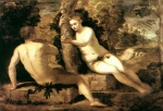 Jacopo Robusti Tintoretto - Bilder Gemälde - Adam und Eva (Adam and Eve)