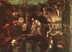 Jacopo Robusti Tintoretto - Bilder Gemälde - Adoration of the Magi
