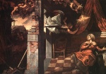Jacopo Robusti Tintoretto - Bilder Gemälde - Annunciation