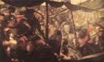 Jacopo Robusti Tintoretto - Bilder Gemälde - Battle between Turks and Christians