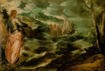 Jacopo Robusti Tintoretto - Bilder Gemälde - Christ at the Sea of Galilee