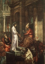 Jacopo Robusti Tintoretto - Bilder Gemälde - Christ before Pilate