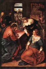 Jacopo Robusti Tintoretto - Bilder Gemälde - Christ in the House of Martha and Mary