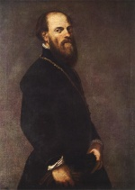 Jacopo Robusti Tintoretto - Bilder Gemälde - Man with a Golden Lace