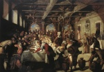 Jacopo Robusti Tintoretto - Bilder Gemälde - Marriage at Cana