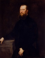Jacopo Robusti Tintoretto - paintings - Portrait of a Bearded Venetian Nobleman