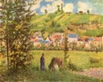 Camille  Pissarro - paintings - Landscape at Chaponval