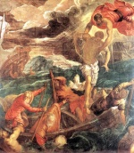 Jacopo Robusti Tintoretto - Bilder Gemälde - St. Mark Saving a Saracen from Shipwreck