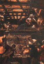 Jacopo Robusti Tintoretto - Bilder Gemälde - The Adoration of the Shepherds