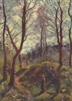 Camille  Pissarro - paintings - Landschaft mit grossen Baeumen