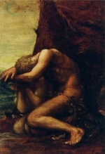 George Frederic Watts - Bilder Gemälde - Adam und Eva (Adam and Eve)