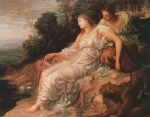 George Frederic Watts - Bilder Gemälde - Ariadne on the Island of Naxos
