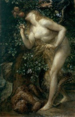 George Frederic Watts - Bilder Gemälde - Eve Tempted
