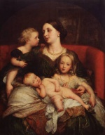 George Frederic Watts - Bilder Gemälde - Mrs. George Augustus Frederick Cavendish Bentinck and her Children