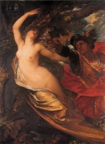 George Frederic Watts - Bilder Gemälde - Orlando Pursuing the Fata Morgana