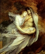 George Frederic Watts - Bilder Gemälde - Pablo and Francesca
