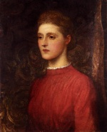 George Frederic Watts - Bilder Gemälde - Portrait of a Lady