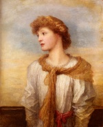 George Frederic Watts - Bilder Gemälde - Portrait of Miss Lilian Macintosh