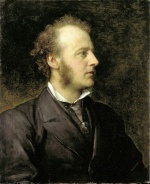George Frederic Watts - Bilder Gemälde - Portrait of Sir John Everett Millais