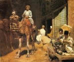 Edwin Lord Weeks - Bilder Gemälde - A Marketplace in Ispahan