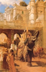Edwin Lord Weeks - Bilder Gemälde - A Royal Procession