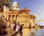 Edwin Lord Weeks - Bilder Gemälde - Along the Ghats Mathura