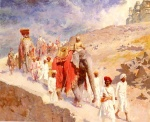 Edwin Lord Weeks - Bilder Gemälde - An Indian Hunting Party