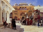 Edwin Lord Weeks - Bilder Gemälde - Arrival of Prince Humbert the Rajah at the Palace of Amber