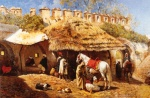 Edwin Lord Weeks - Bilder Gemälde - Blacksmith Shop at Tangiers