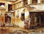 Edwin Lord Weeks - Bilder Gemälde - Courtyard in Morocco