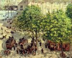 Camille  Pissarro - paintings - Place du Theatre Francais