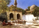 Edwin Lord Weeks - Bilder Gemälde - Figures in the Courtyard of a Mosque
