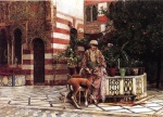 Edwin Lord Weeks - Bilder Gemälde - Girl in a Moorish Courtyard