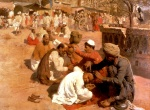 Edwin Lord Weeks - Bilder Gemälde - Indian Barbers Saharanpore